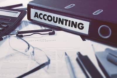 Office folder with inscription Accounting Smaller