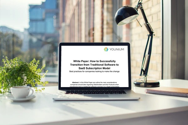 SaaS transition white paper graphic